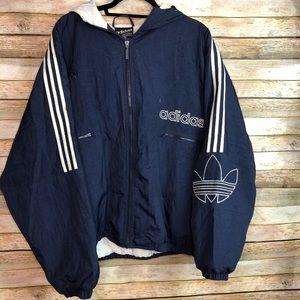 Adidas Puffer Jacket Vintage 90's Trefoil XL